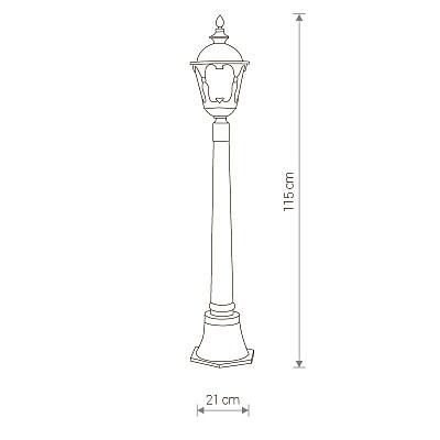 Уличный светильник Nowodvorski TYBR I 4685
