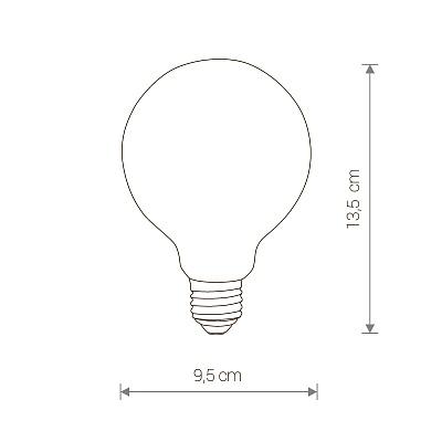 Лампа Nowodvorski BULB E27 GLASS BALL LED 8W, 3000K 9177