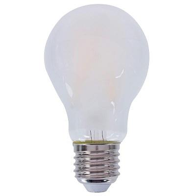 Белая матовая лампочка LED E27 6W тёплый свет (45.029)