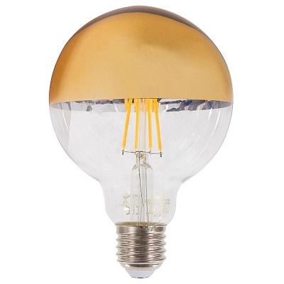 Лампа прозрачная с гальваникой LED Е27 4W теплый свет (45.038)