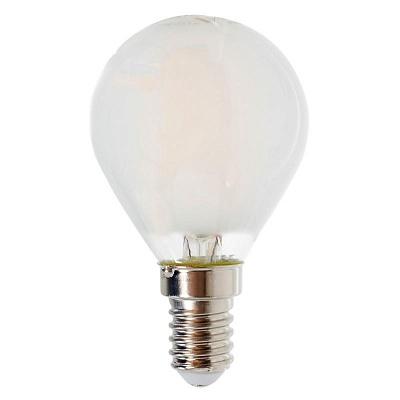 Белая матовая лампочка LED E14 4 W тёплый свет (45.025)