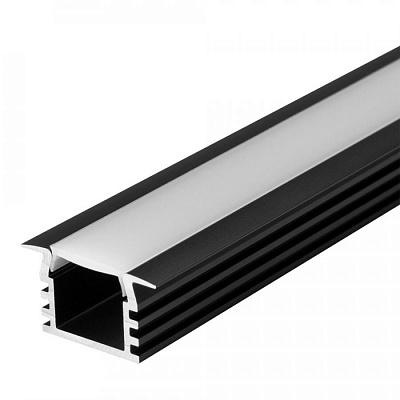 Профиль PDS-F-2000 ANOD Black Arlight 017642