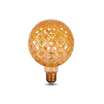 Лампочка Amber 3 LED E27 5W тёплый белый свет (45.037)